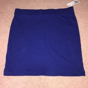 BLUE NEVER WORN MINI SKIRT